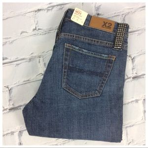 X2 Denim Lab Rhinestones Boot Cut Jeans, Size 6